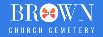 Brown Church Cemetery rectangle logo
